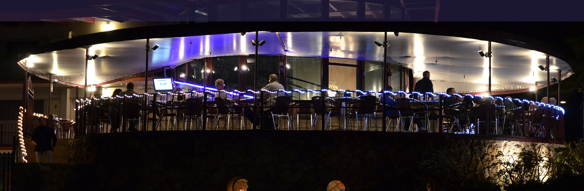 The Deck Restaurant at night